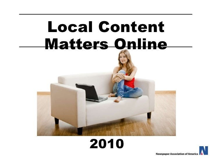 Local Content Matters Online 2010