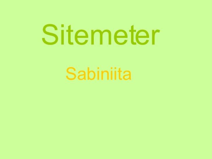 Sitemeter Sabiniita