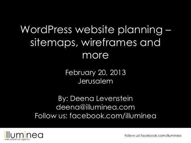 WordPress site planning, WordCamp Jerusalem 2013