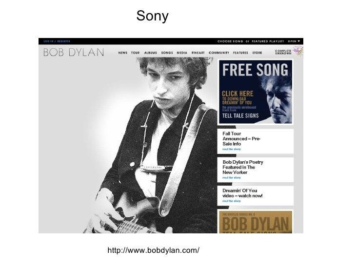 http://www.bobdylan.com/ Sony
