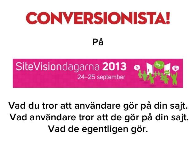 Conversionista på Sitevisiondagarna