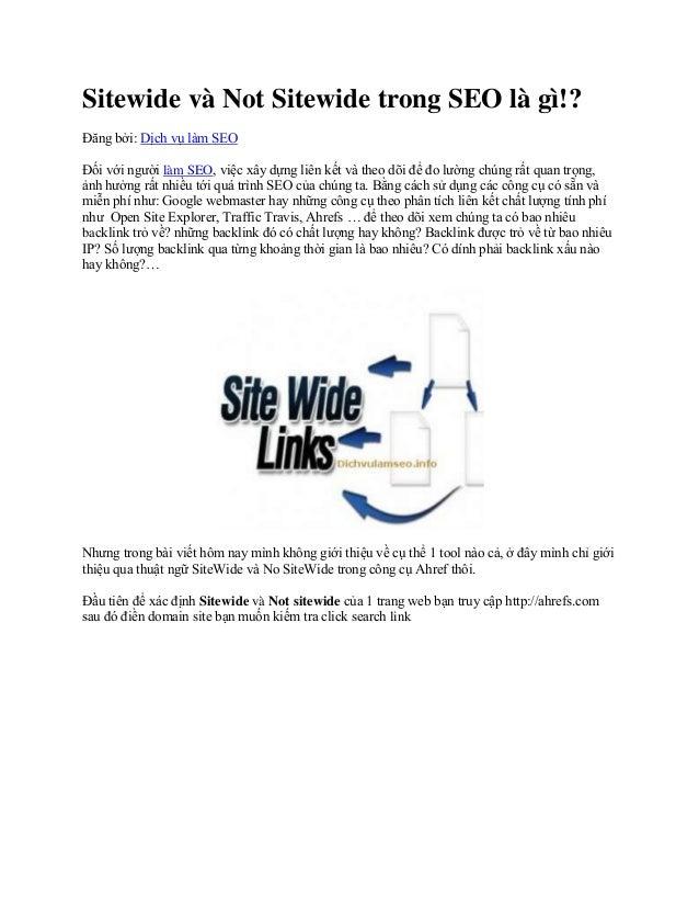 Sitewide trong SEO là gì?