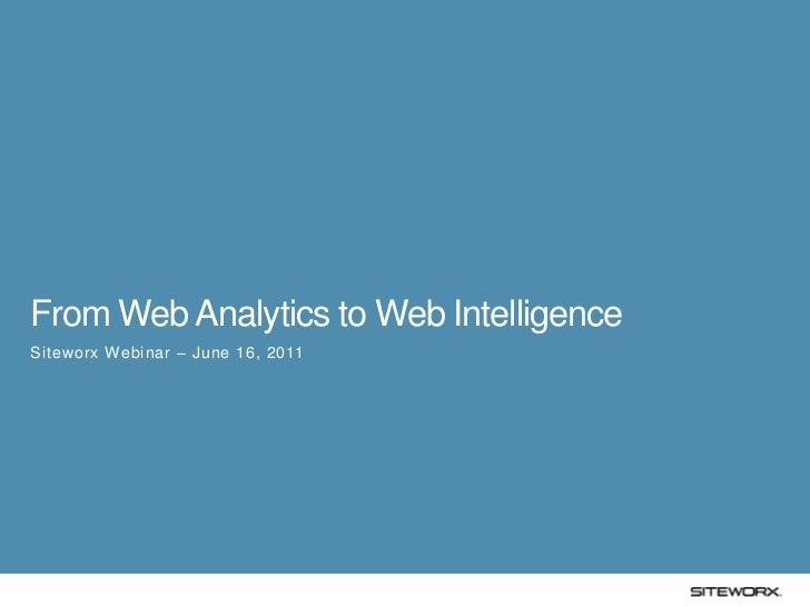 From Web Analytics to Web Intelligence