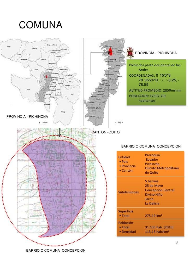 Barrios de Quito Mapa Quitobarrio o