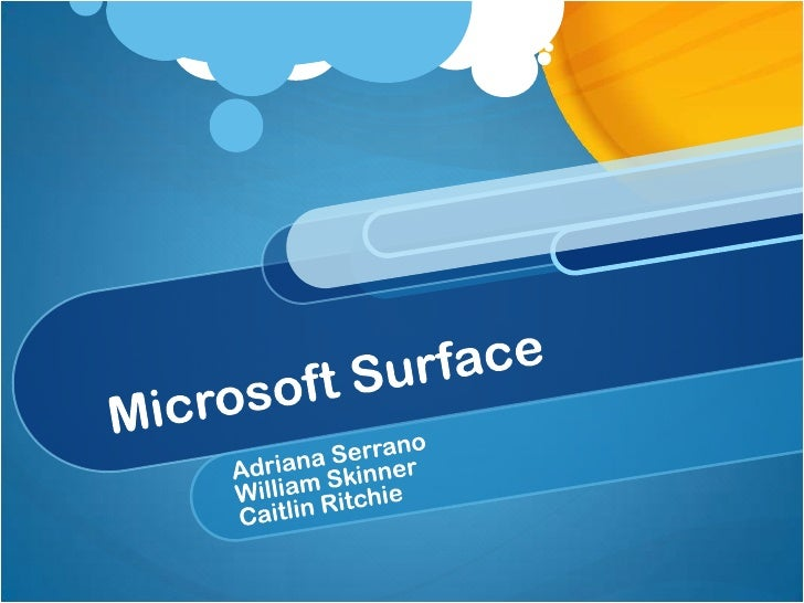 SIT Microsoft Surface PPT