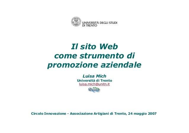 Sito web per la promozione aziendale