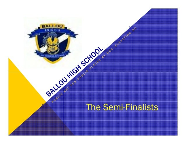 SIT Presentation of Ballou High School Art Semi-Finalists