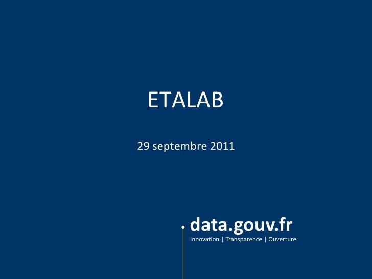 ETALAB<br />29 septembre 2011<br />