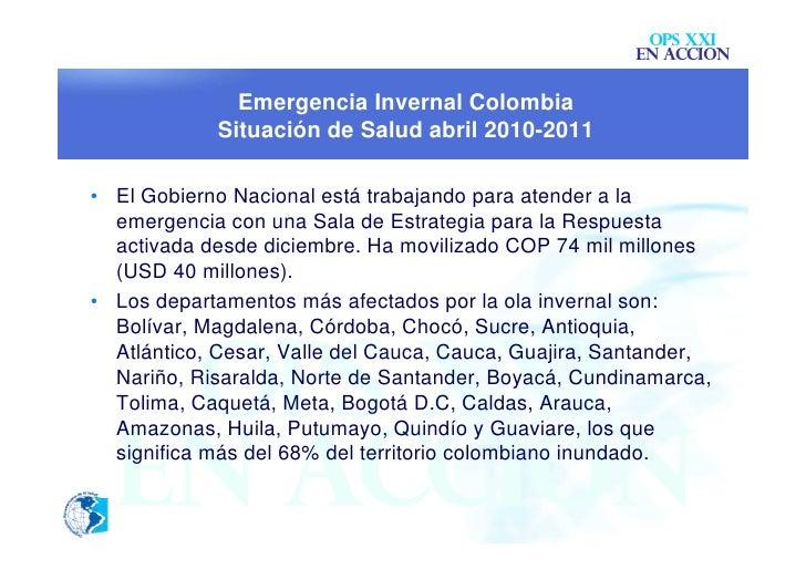 OPS XXI                                                       EN ACCION              Emergencia Invernal Colombia         ...