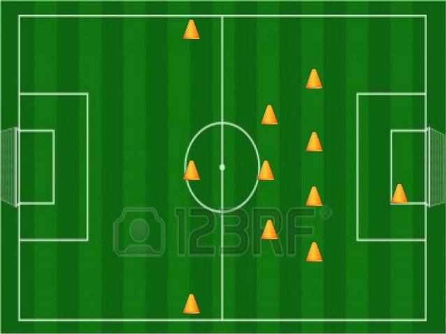 Jugada 1 Saque de meta hacia banda izquierda o derecha. Control el medio centro de contención.