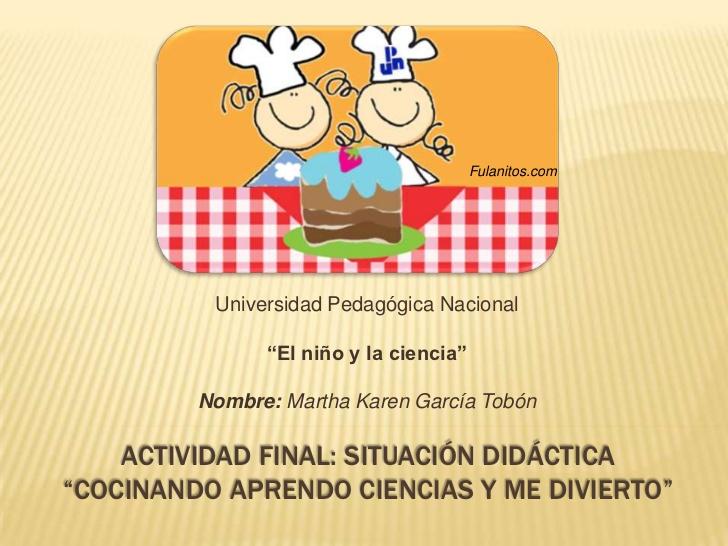 Situaci n did ctica a cocinar for Proyecto cocina infantil
