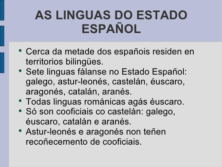 Situacion Linguas EspañA