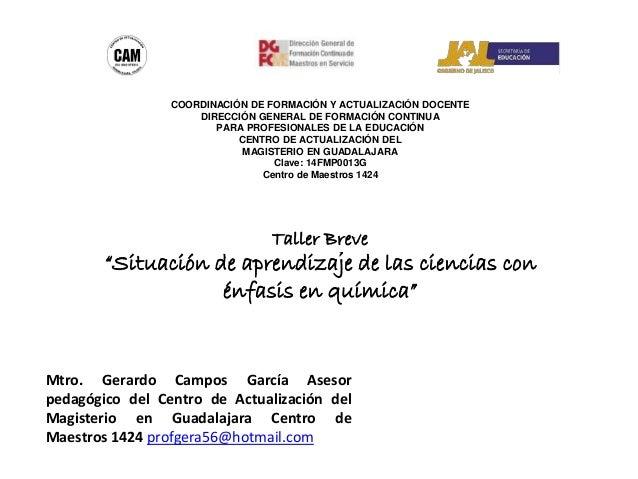 COORDINACIÓN DE FORMACIÓN Y ACTUALIZACIÓN DOCENTE DIRECCIÓN GENERAL DE FORMACIÓN CONTINUA PARA PROFESIONALES DE LA EDUCACI...