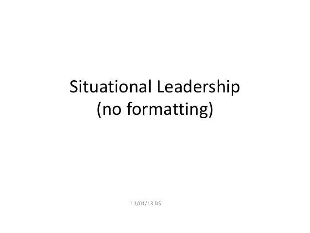 Situational leadership step by step presentation v1.0