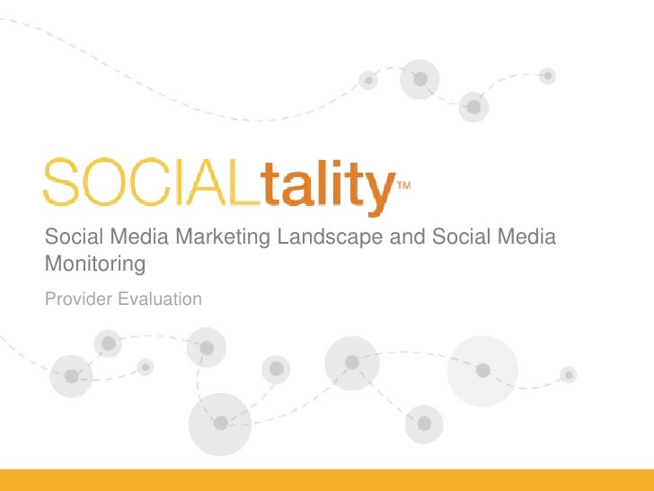 Situation Analysis Deck - Social Media Listening & Monitoring Lanscape