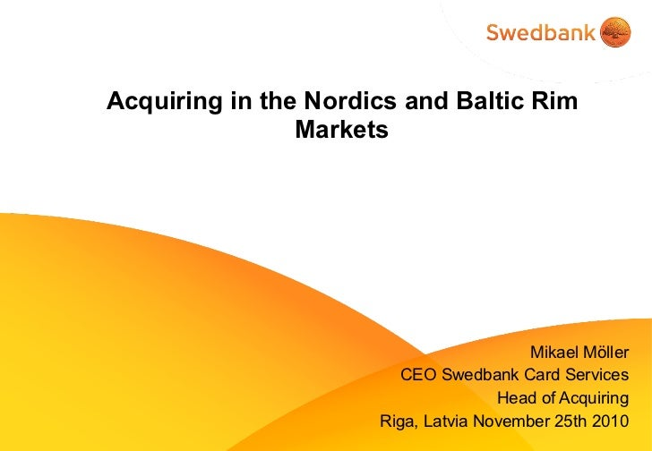 Situation with card payments in baltics and nordics 2010