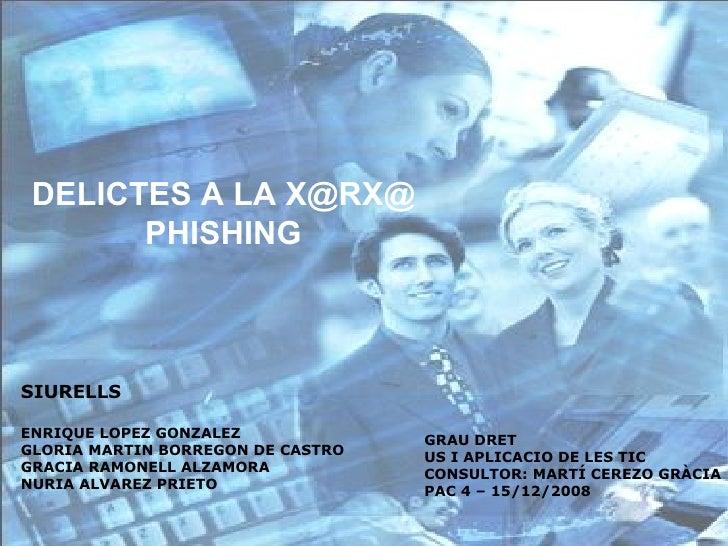DELICTES A LA X@RX@ PHISHING SIURELLS ENRIQUE LOPEZ GONZALEZ GLORIA MARTIN BORREGON DE CASTRO GRACIA RAMONELL ALZAMORA NUR...
