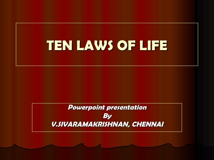 10 LAWS OF LIFE