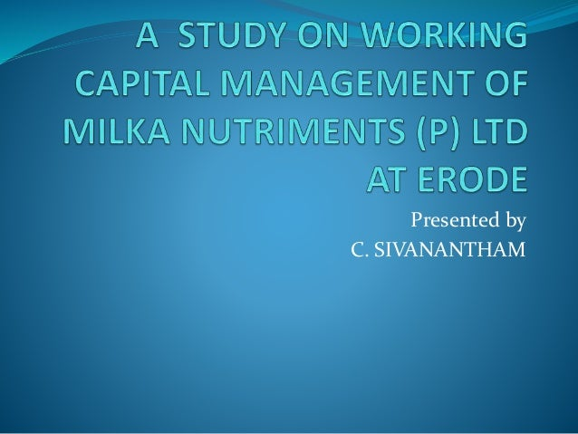 Presented by C. SIVANANTHAM
