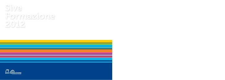 Catalogo corsi Sive Formazione 2012