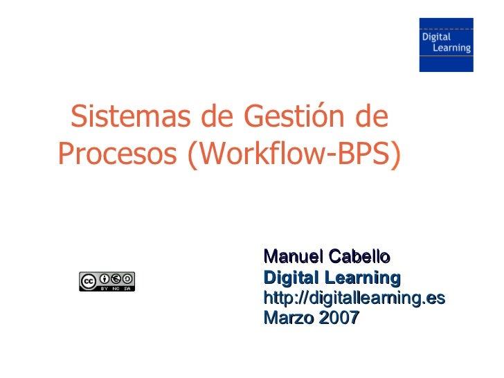 Sistemas Workflow-BPS (Gestión de Procesos)