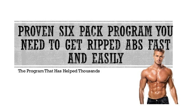 how to get six pack abs easily
