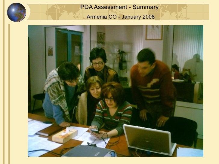 Armenia June 2008 PDA Assessment for Save the Children USA
