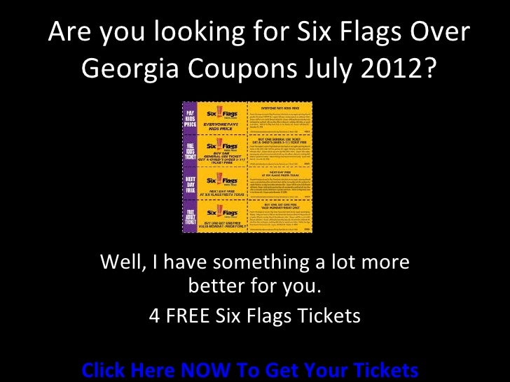 6 flags discount coupons