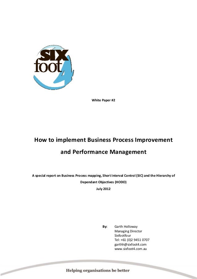 Sixfoot4 bpi and performance management white paper