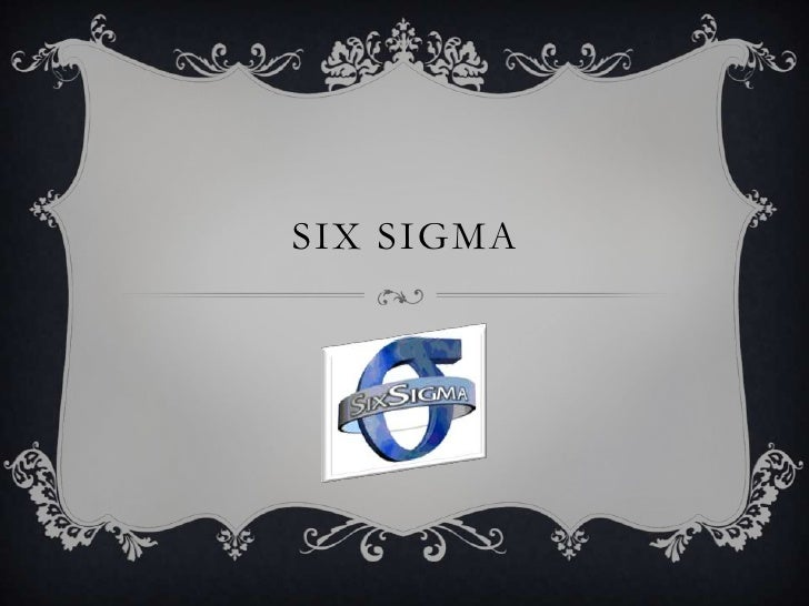 Six sigma   intro