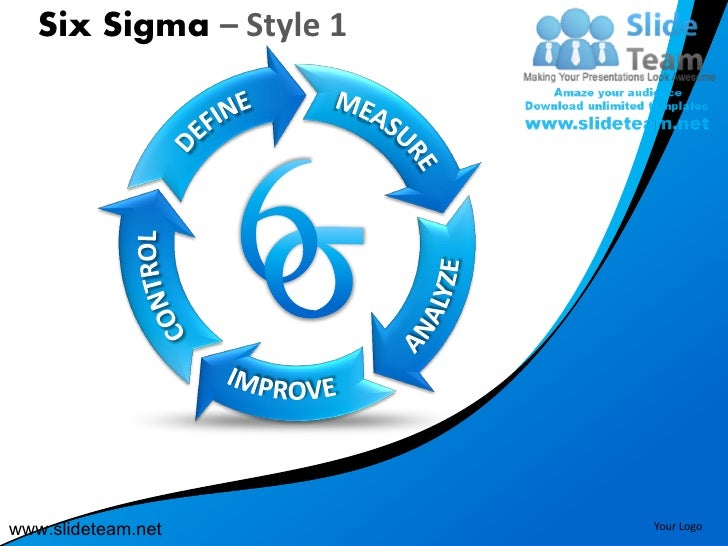 Six sigma cmm levels define control measure style design 1 powerpoint ppt slides.