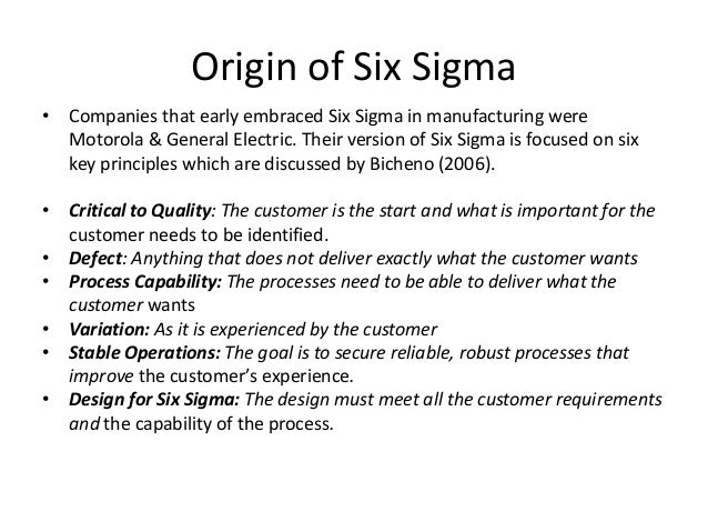 six sigma essay Essay on six sigma at 3m, inc issue is if continued application of six sigma throughout the organization will have a significant positive impact on the company or if it stifles innovation and creativity in research and development.