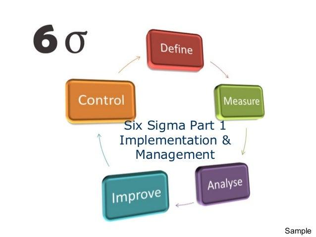 Six Sigma Part 1 Implementation & Management Sample