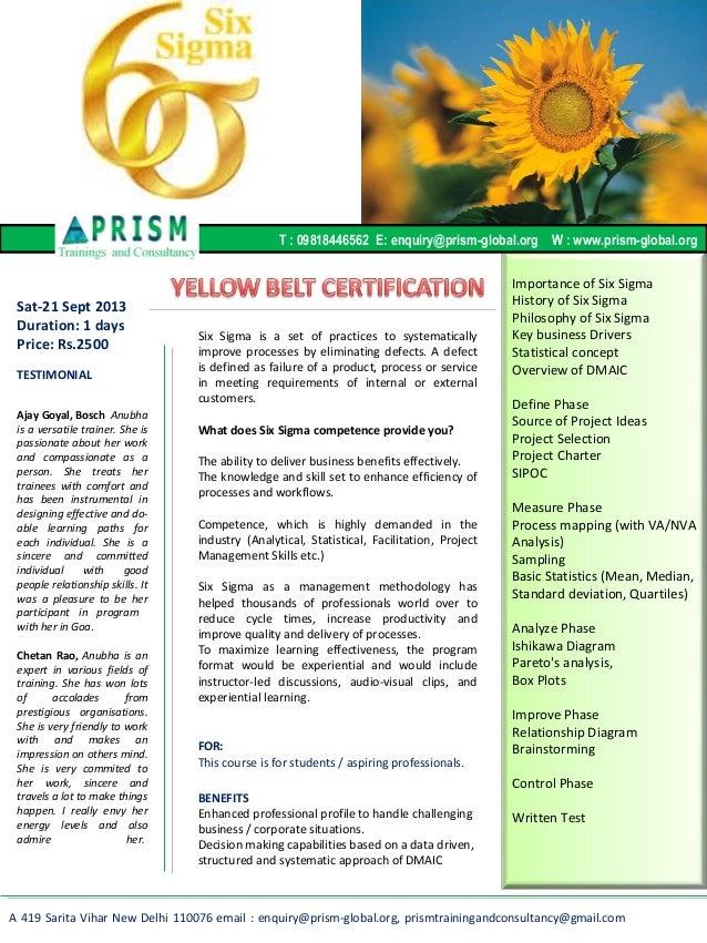 6 sigma yellow belt pdf
