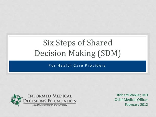 Six Steps of Shared Decision Making