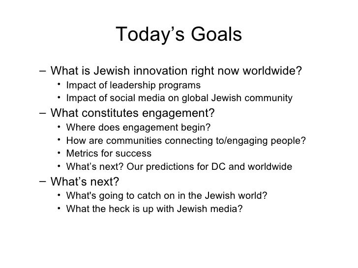 Jewish Innovation, Online and Off: Presentation to Sixth &  I Historic Synagogue