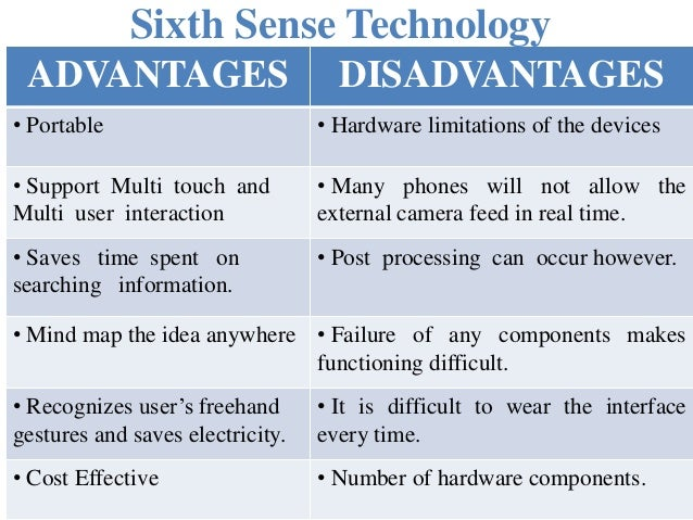 research paper on six sense technology