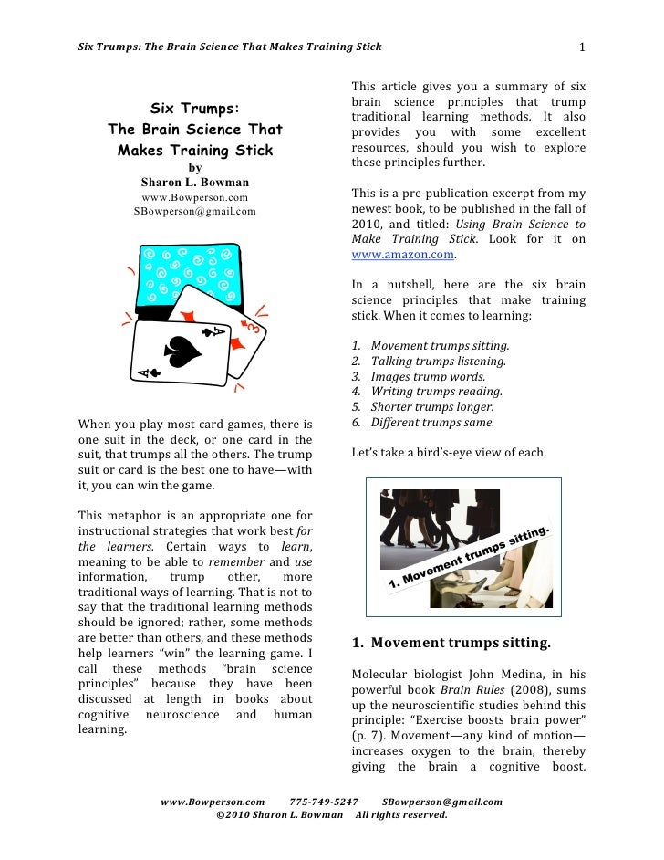 SixTrumps:TheBrainScienceThatMakesTrainingStick                                           1                     ...