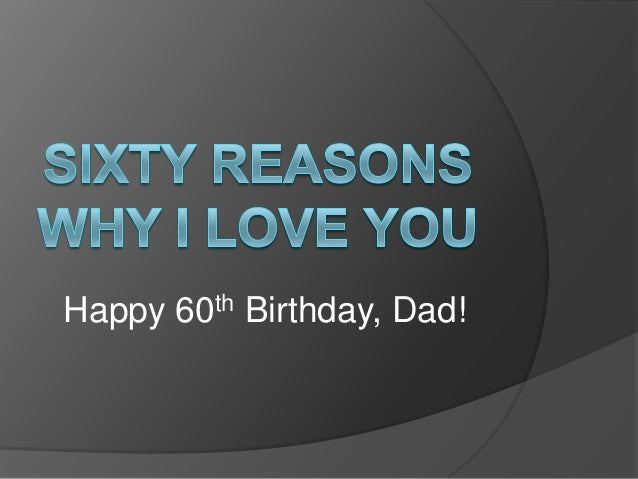 Happy 60th Birthday, Dad!