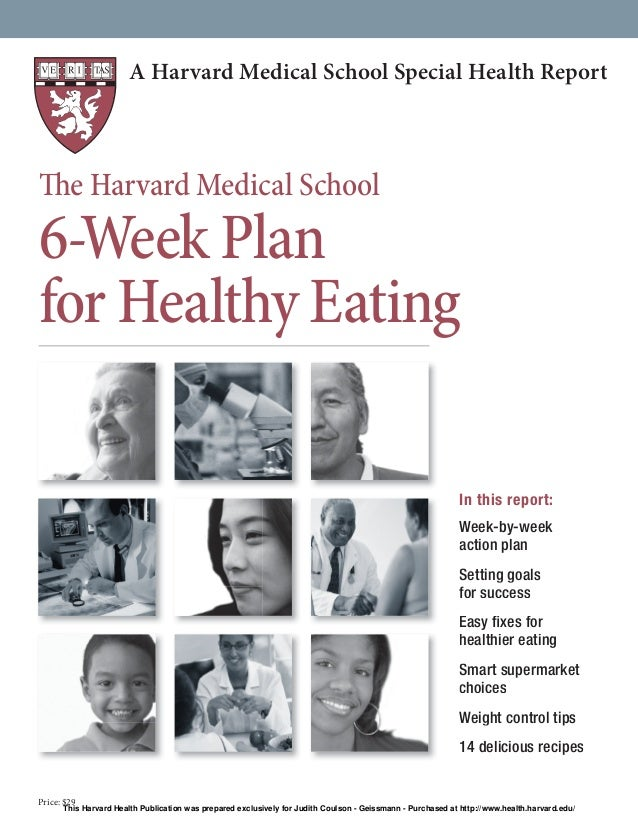 Six week plan to a healthier you