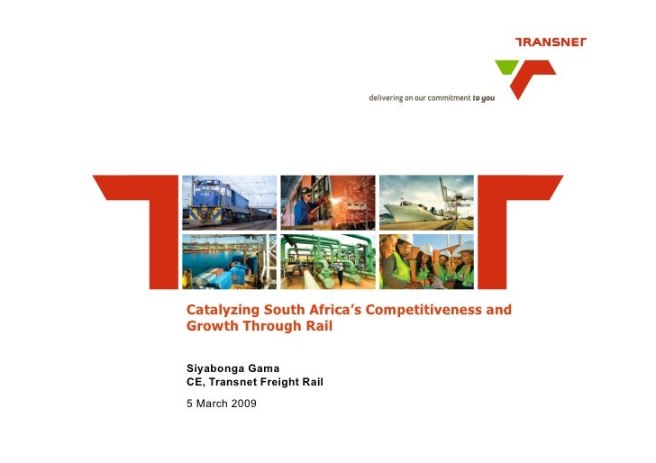 Enhancing South Africa's Competitiveness Through Rail
