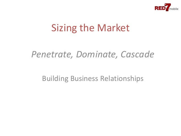 Sizing the MarketPenetrate, Dominate, Cascade  Building Business Relationships