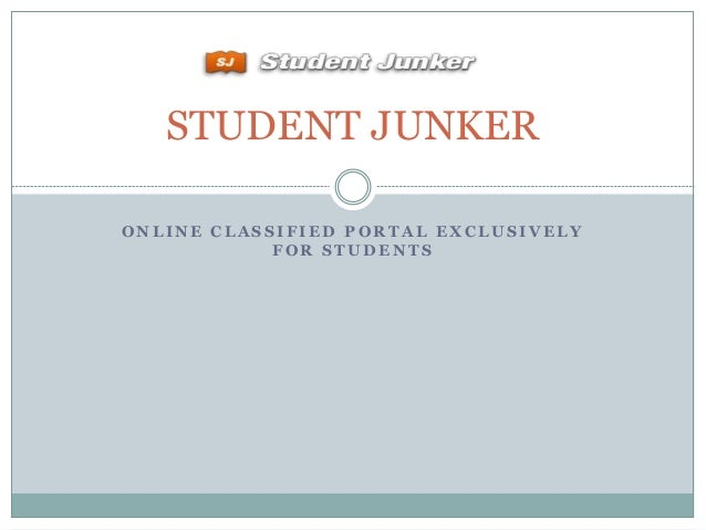 STUDENT JUNKER ONLINE CLASSIFIED PORTAL EXCLUSIVELY FOR STUDENTS