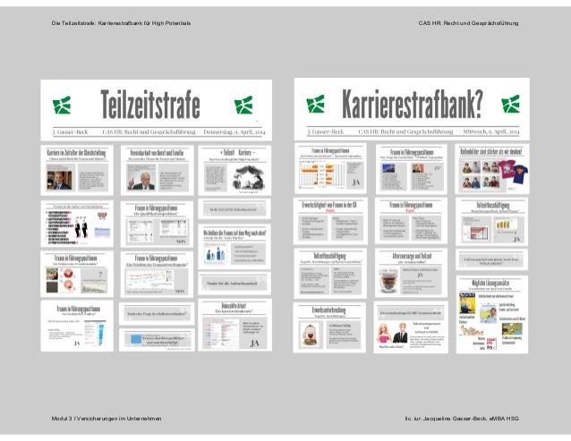 Die Teilzeitstrafe: Karrierestrafbank für High Potentials CAS HR: Recht und Gesprächsführung Modul 3 I Versicherungen im U...