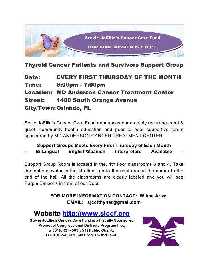 Thyroid Cancer Support Group Notice