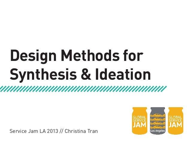 Service Design Methods