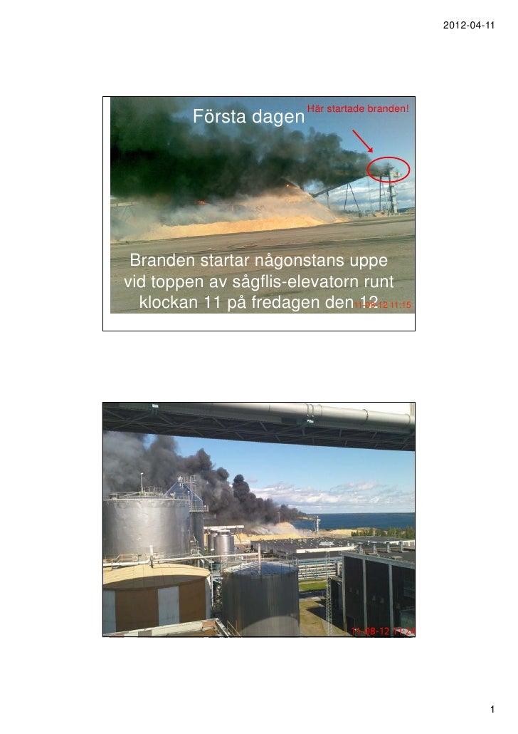 2012-04-11                          Här startade branden!          Första dagen Branden startar någonstans uppevid toppen ...