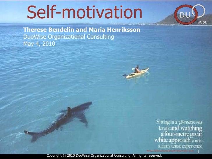 Självmotivation sammanfattning