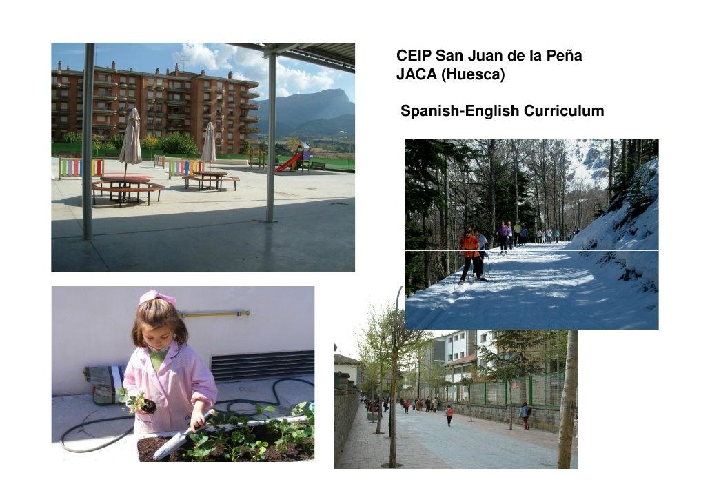 CEIP San Juan de la Peña JACA (Huesca)  Spanish-English Curriculum