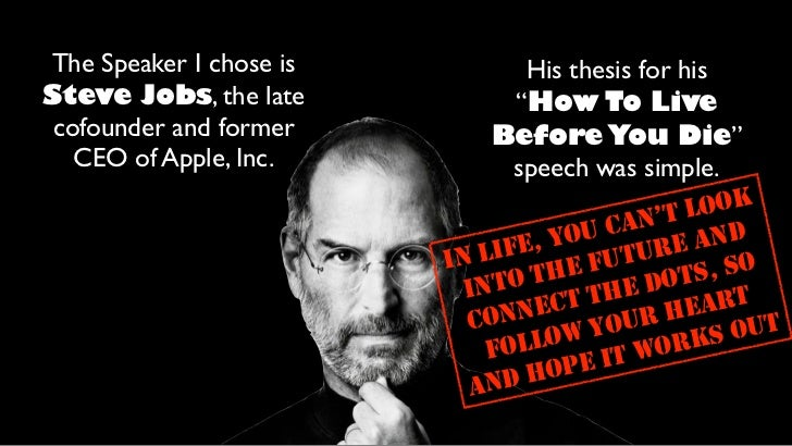steve jobs thesis statement 1-sentence-summary: steve jobs is the most detailed and accurate account of  the life of the man who created apple, the most valuable.